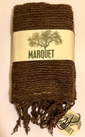 Marquet Fair Trade Open Weave Scarf - Brown