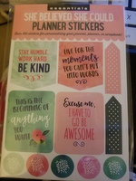 """Essentials """"She Believed She Could"""" Planner Stickers"""