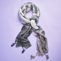 Kevia Gray Floral Scarf