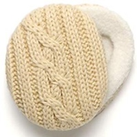 SPRIGS CABLE KNIT EAR BAGS WITH THINSULATE