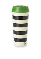 Kate Spade Black & White Stripe Thermal Mug (add-on)