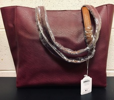 Ocassionally Made Vegan Leather Tote in Wine