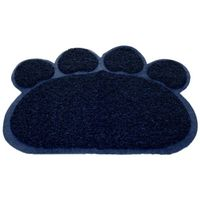 Paw Print Cat Litter Mat - Kitty Litter Trapping Mat for Cat Litter Box