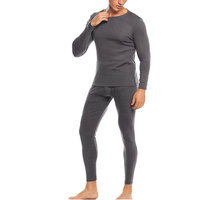 Men's TruFit Thermal Top and Bottom Set With Brush Cotton Fleece Line