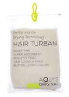 AQUIS Lisse Luxe Rapid Dry Hair Turban - White (add-on)