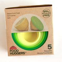 Food Huggers, set of 5 Reusable Silicone Food Savers