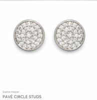 Sophie Harper Pave Circle stud earrings