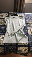 Cold shoulder light weight sweater