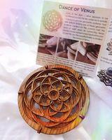 """Dance of Venus"""" Crystal Sphere Stand"""