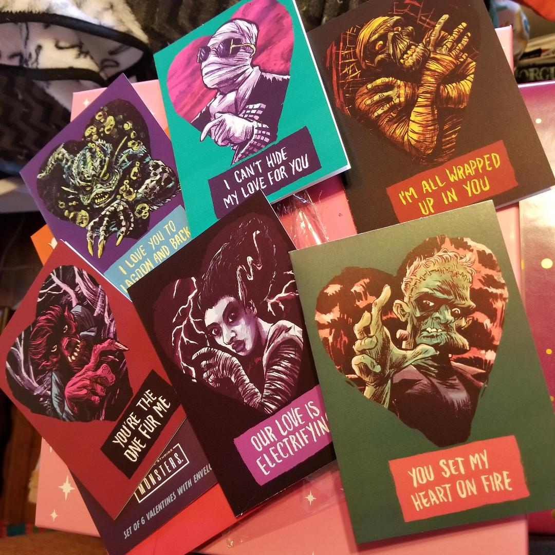 Universal Monsters Valentine's Day / Love Greeting Cards LOOT CRATE LOOT FRIGHT