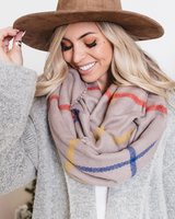 Seville thin plaid scarf