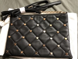 Deux lux heart studded purse