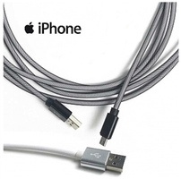 10 Foot High Speed Armored Lightening iPhone/iPad Charging Cable