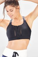 Zoe Zip-Up High Support Sports Bra (large)
