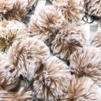 Faux Fur Pom Pom keychain