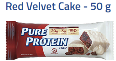 Pure Protein Bars, Red Velvet, 1.76 oz