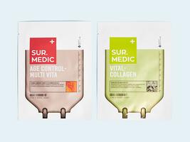 SUR.MEDIC+ Sheet Mask Duo: Age Control Multi-Vita & Vital-