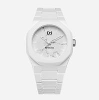 D1 Milano Marble Face Watch WHITE