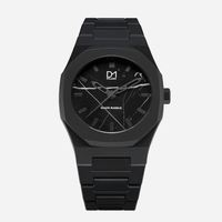 D1 Milano Marble Face Watch BLACK