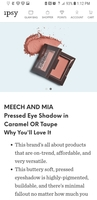 Meech and Mia pressed eye shadow in taupe