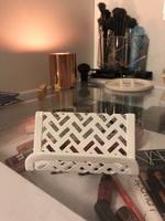 White Zigzag Business Card Hilder