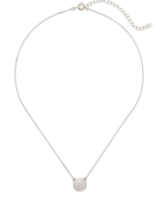 Sophie Harper Pave Disc Necklace in Silver