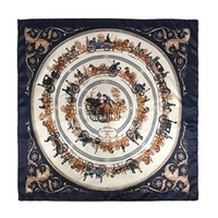 Paris Navy 100% Silk Scarf