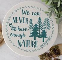Fabric bowl cover - Thoreau quote