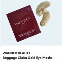 WANDER BEAUTY Baggage Claim Gold Eye Mask