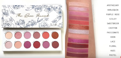 Suva Beauty Rose Period Eyeshadow Palette