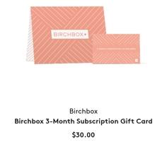 3-month Birchbox Gift Subscription