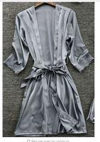 Satin Grey Robe SIZE XS