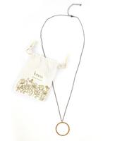 Kevia Style Circle Pendant Long Necklace