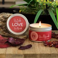 A spark of love soy rose and jasmine candle