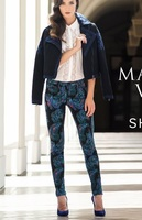 Marchesa Voyage Feather Printed Jeans