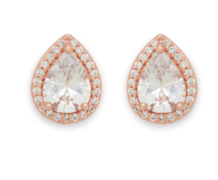 Perry Street Elle Studs in Rose Gold & Crystal