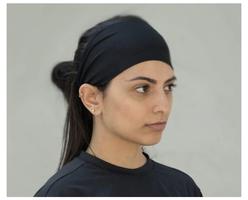 Temple Tape Moisture Wicking Sweatband Headband - black