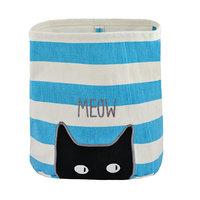 Meow Canvas Storage Bin
