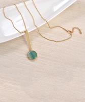 Elly Preston Blue Pendulum Pendant Necklace