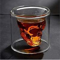 Doomed Skull Crystal Shot Glasses (set of 2)