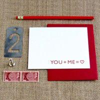 You + Me Love Card
