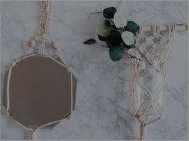 Macrame Mirror and Plant Holder Kit