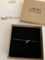 """Atelier Paulin 14K Gold Letter Bracelet : """"k"""""""
