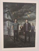 Sam, Dean, Castiel, & Crowley Art Print