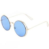 YHF Los Angeles Wavy-Blue Luxe Sunglasses