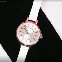 White And Rose Gold Hustle Watch