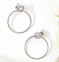 Fiona stud and hoop jacket earrings silver