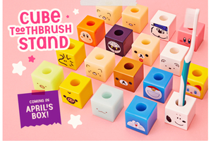 Cute toothbrush cube