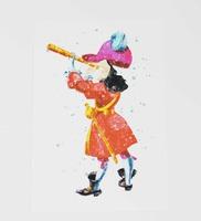 Captain Hook 4x6 Art Print