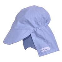 The Original Flap Hat in Blue Check Pattern
